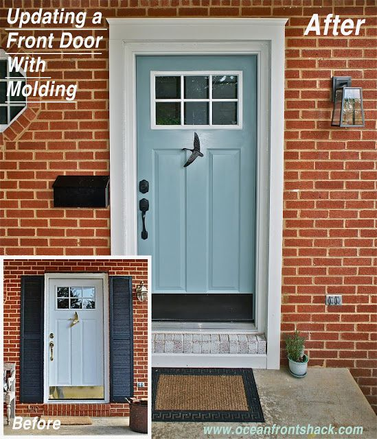 Great Adding Trim To A Front Door For An Easy Update...maybe On Windows Too |  Dream House | Pinterest | Front Doors, Doors And Easy