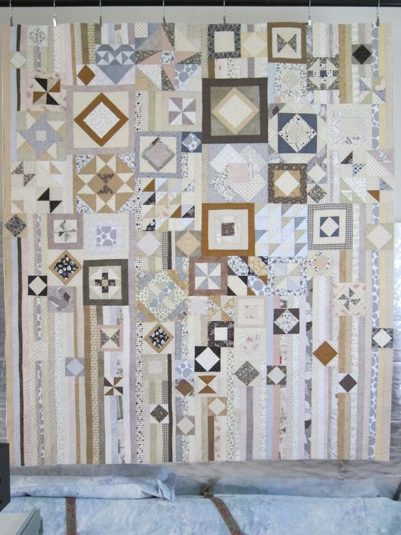 Gypsy Quilt And Neutral Quilt On Pinterest