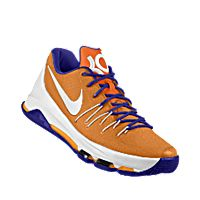 I designed the orange Clemson Tigers Nike men's basketball shoe with purple and white trim.