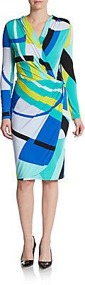 Abstract-Print Jersey Dress