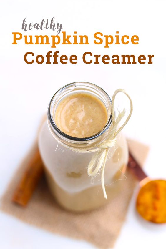 This healthy pumpkin spice coffee creamer is dairy free, vegan, paleo-friendly and naturally sweetened!