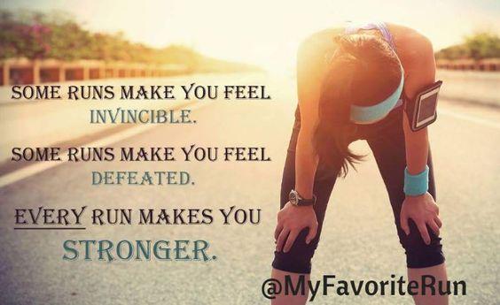 Every run makes you stronger!