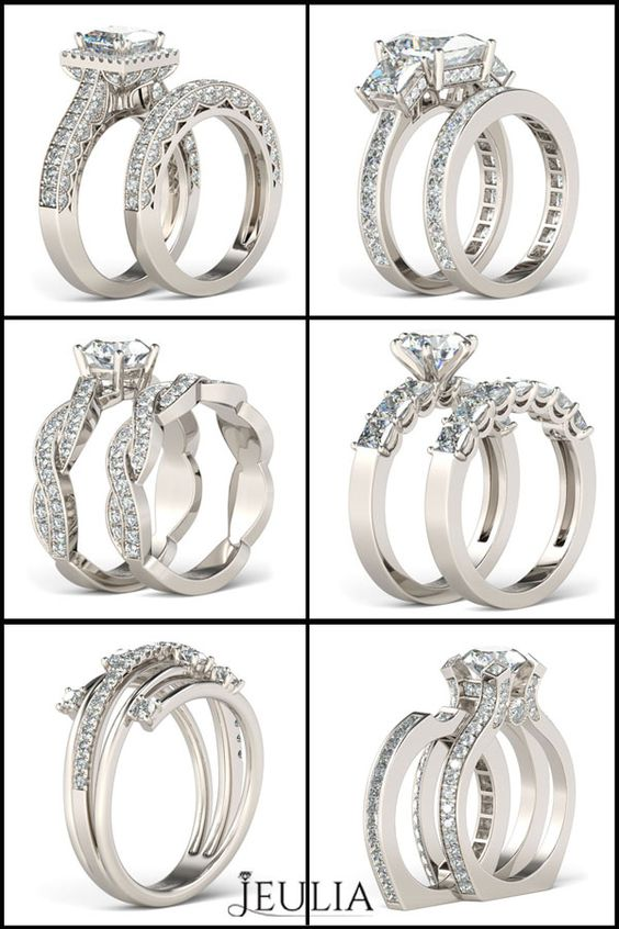 Sterling Silver White Sapphire Engagement Ring , Which will you select? #jeulia