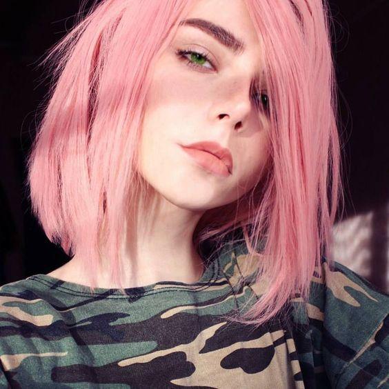 Pink Hair Straight Hair Shoulder Length Hair Styles Pink Hair Hair Inspiration