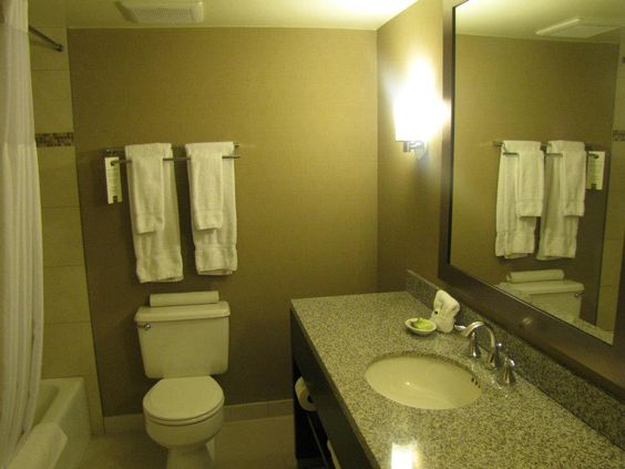 Our new Concourse Premiere bathrooms! Madison, Wisconsin Hotel.