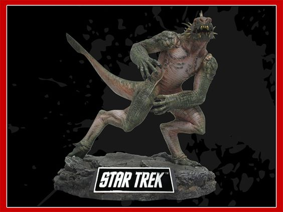 Gorn statue from Star Trek made of PVC. We also designed rigid foam protective packaging and a cool retail box for this one. - See more at http://dpipromo.com/productshowcase.html