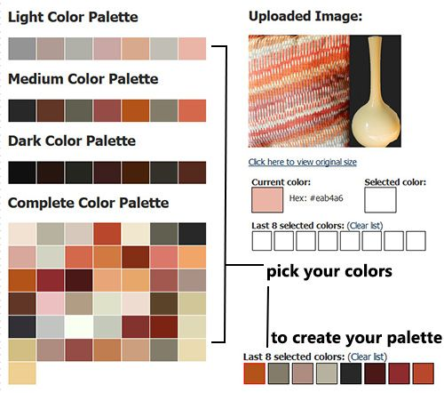 playing with color palette generators for home decorating
