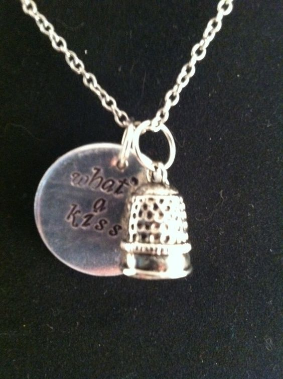 "Peter Pan ""What's a Kiss?"" Thimble pendant by DinglehopperDesigns, $12.00.....I was obsessed with Pter Pan as a kid and it's still a Disney fav for this gal! WANT!!!!"