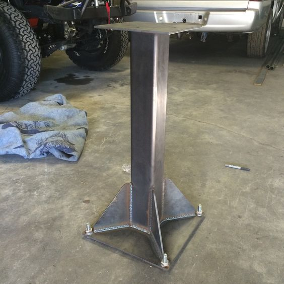 Vice Stand Metal Fab Cnc Work Pinterest