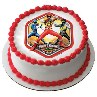 Power Rangers Dino Charge Edible Cake or Cupcake Toppers ...