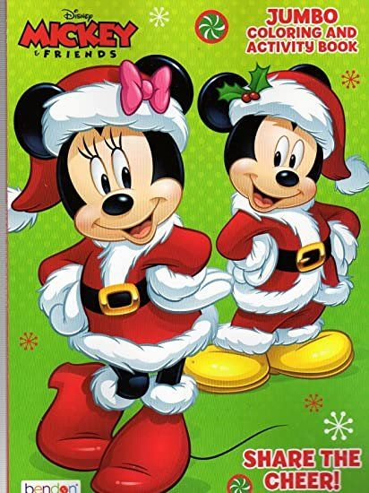 Disney Christmas Coloring Book Awesome Christmas Holiday Disney Mickey Mouse And Friends Jumbo Coloring And Activity Book The Cheer Di 2020