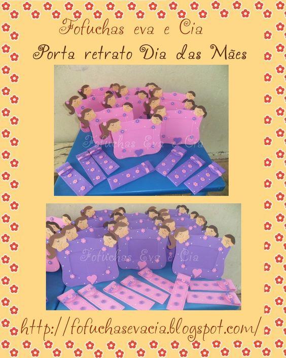 Fofuchas Eva e Cia: Porta Retrato e porta lixa de unhas Dia das Mães: Goma Eva, Nail, Mothers, Day, Craft Ideas