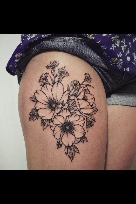 Flower tatt