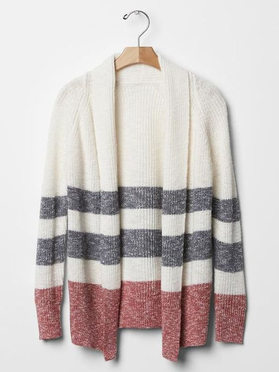 Gap Girls Multi Stripe Cocoon Cardigan