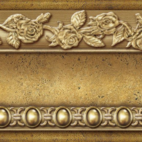 Brown Gold Wallpaper Borders Self Adhesive Flower Moulding Scroll Interior Ideas