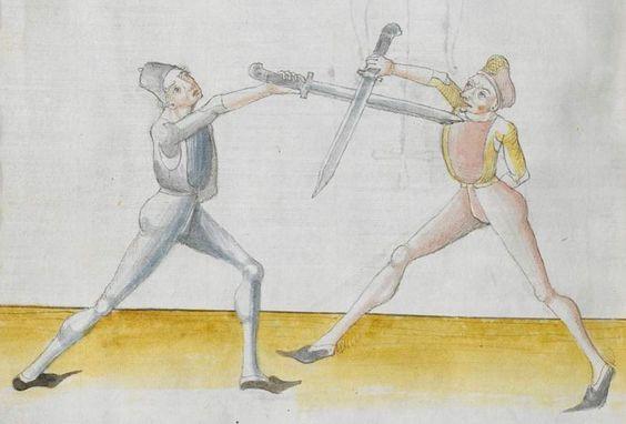 Lecküchner, Hans: Kunst des Messerfechtens Nordbayern, 1482 Cgm 582 Folio 68
