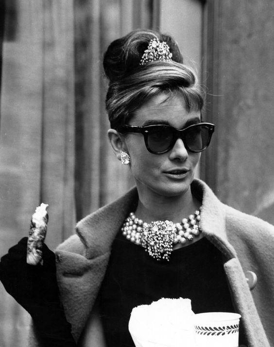 Audrey Hepburn on the set of Breakfast at Tiffany's, New York City, 1961