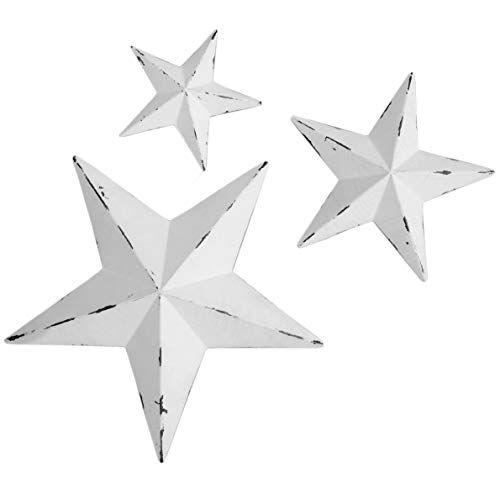 Yl Crafts Metal Star Wall Decoration Mounted Wall Art 3pcs Set