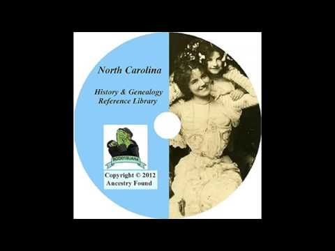 North Carolina History and Genealogy   128 Books on DVD Ancestry Records...