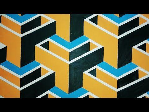 Cara Melukis Cat Dinding Tembok Rumah 3d 3d Wall Art Draw Painting Wallpaper Ilustrasion Easy Youtube Painting Art Lukisan