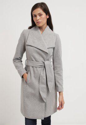 vero moda vmkate wollmantel klassischer mantel light grey melange wishlist. Black Bedroom Furniture Sets. Home Design Ideas