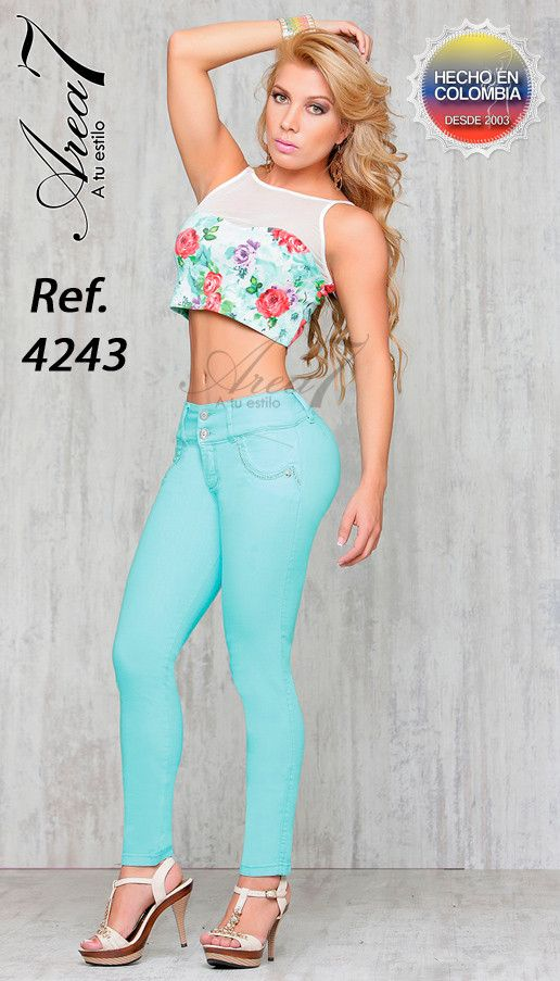 AREA 7 JEANS LIGHT GREEN SIZE 9 USA 14 COLOMBIA | Products ...