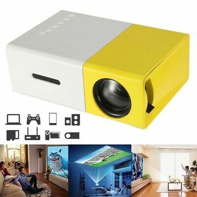 YG300 1080P Home Theater Cinema USB HDMI AV SD Mini Portable HD LED Projector pw  | eBay