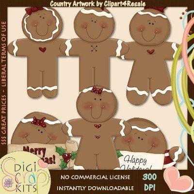Gingerbread Sayings 1 Country Clip Art : Digital Scrapbook Kits , Cute ...