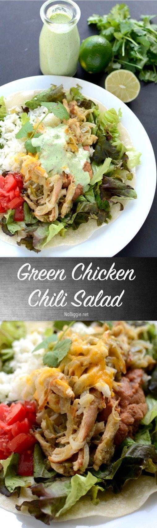 Bajio S Green Chicken Chili Salad Recipe Nobiggie Net Chili Salad Delicious Salads Green Chili Chicken