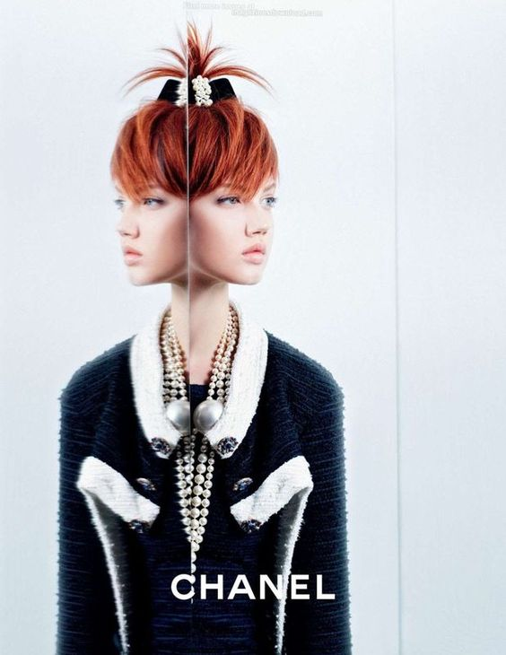 Lindsey Wixson & Sasha Luss for #Chanel S/S 2014 Campaign by Karl Lagerfeld