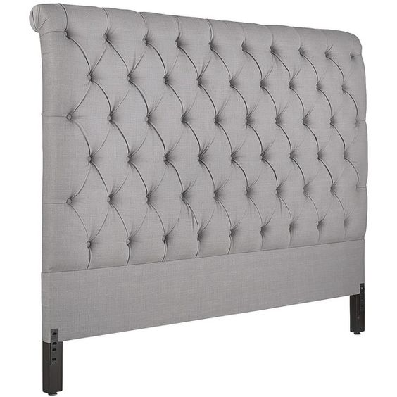 Pewter Tufted Bed And Home On Pinterest