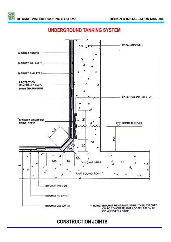 Underground Water Tank Typical Section Water Pinterest