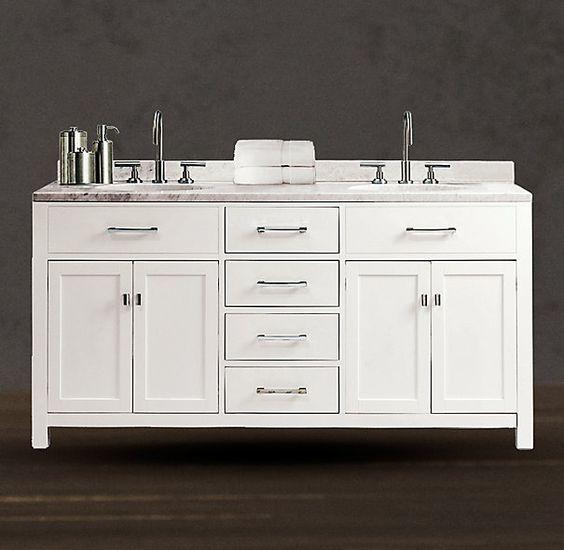 vanity sink double vanity hardware restoration hardware vanities bath