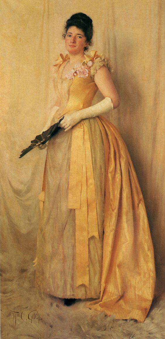 The Lady in Gold (also known as Portrait of Mrs. John Crooke) Thomas Cooper Gotch
