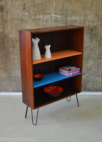 ... Kommode Highboard DANISH MODERN 60s rosewood shelf cabinet  eBay