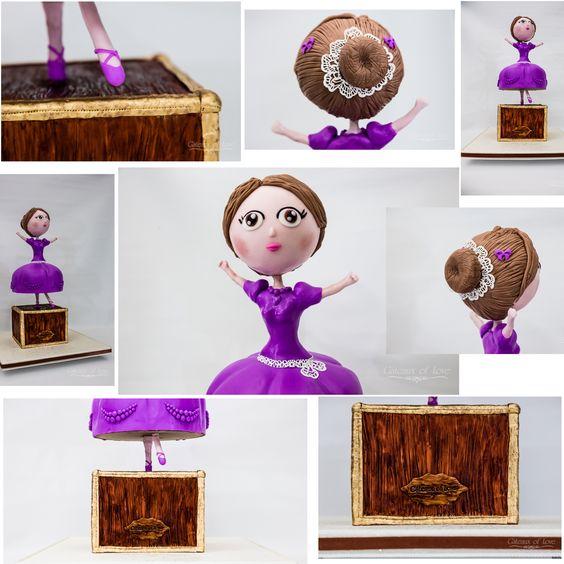 Spinning Princess Doll Cake It is all about details....  #spinning #princess #doll #cake #chocolate #mud #cake #ganache #fondant #sugarpaste #gold #cakedecorating #cakedesign #thebakingstudio #waybeyondcakes #manafkamil #gateauxoflove