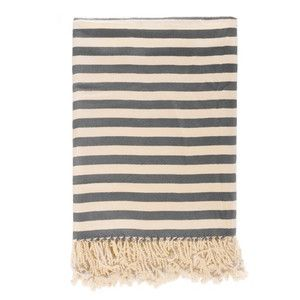 Striped Bamboo Throw Slate, $93, now featured on Fab.