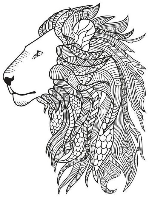 Lion Coloring Page Colorish App Free Coloring App For Adults By Goodsofttech Colorir