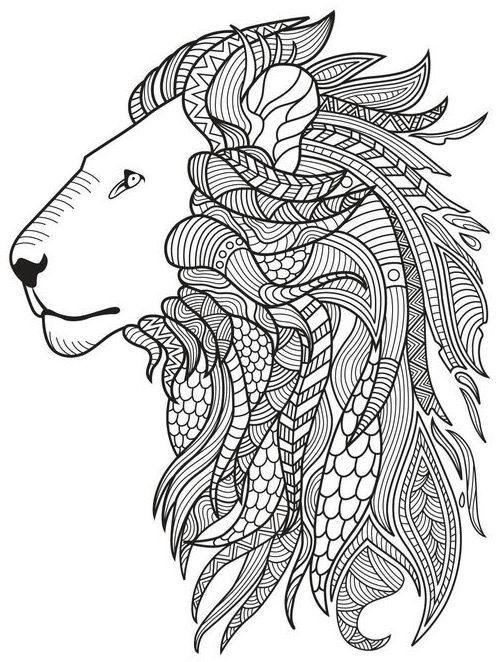Lion Coloring Page Colorish App Free Coloring App For Adults By Goodsofttech Ausmalbilder Ausmalen Malen