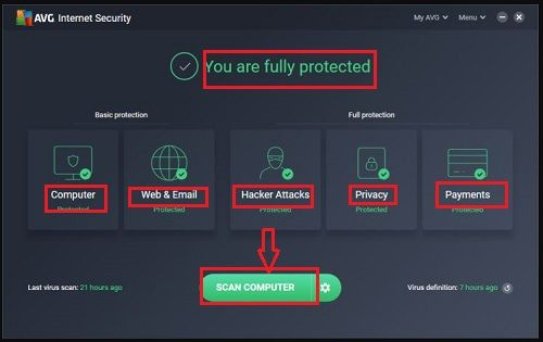 Avg Internet Security 2020 For Windows 7 10 Free Download Internet Security Internet Security