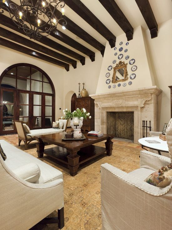 125 Living Room Design Ideas: Focusing On Styles And Interior Décor Details  | Spanish Courtyard, Spanish And Mediterranean Living Rooms Part 38