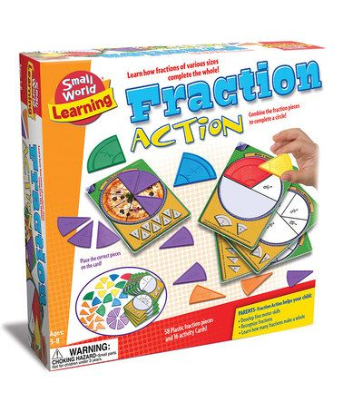 Take a look at this Fraction Action Game by Small World Toys on #zulily today!