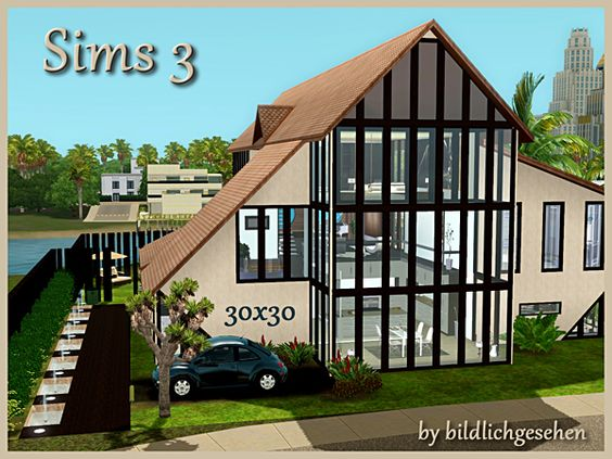 Wohnhaus Riverside by Bildlichgesehen - Sims 3 Downloads CC Caboodle  Check more at http://customcontentcaboodle.com/wohnhaus-riverside-by-bildlichgesehen/