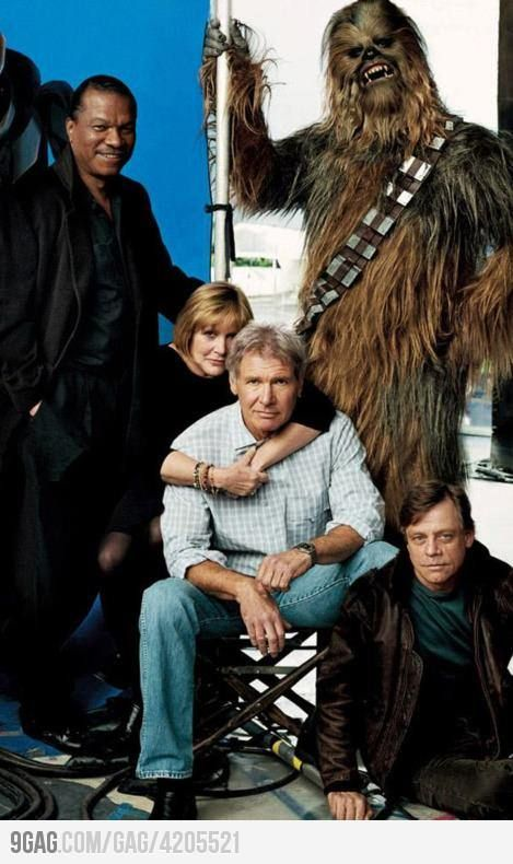 The old team back again: Star Wars Cast, Harrison Ford, Time Ago, Long Time, Sci Fi, Mark Hamill, Hasn T Aged, Chewy Hasn T, Starwars