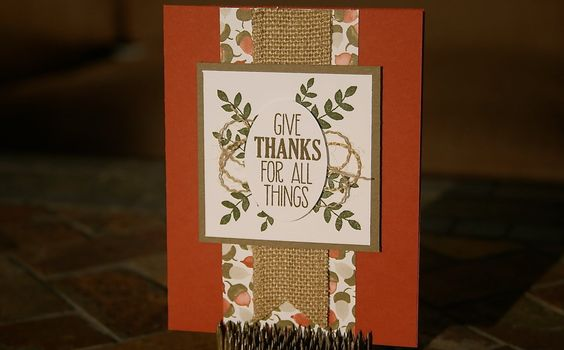Stampin' Up Thanksgiving Card using For All Things