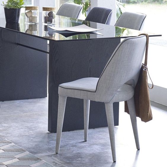 Chaise ergonomique en tissu (lot de 2), Joan La Redoute Interieurs