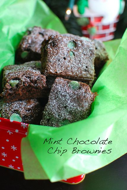 Mint Chocolate Chip Brownies by The Culinary Chronicles, via Flickr
