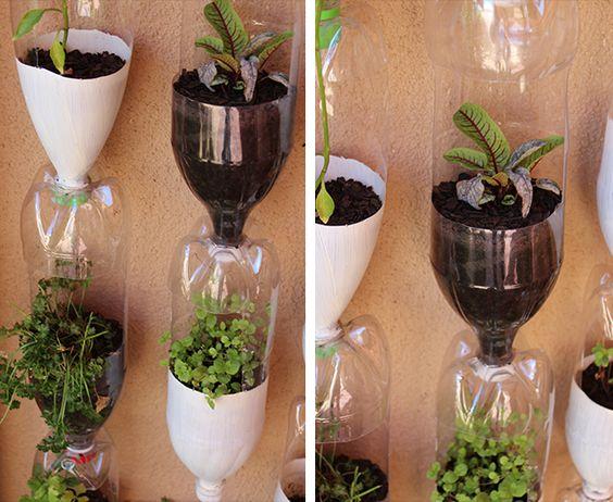 Pinterest the world s catalog of ideas for Plastic bottle planter craft