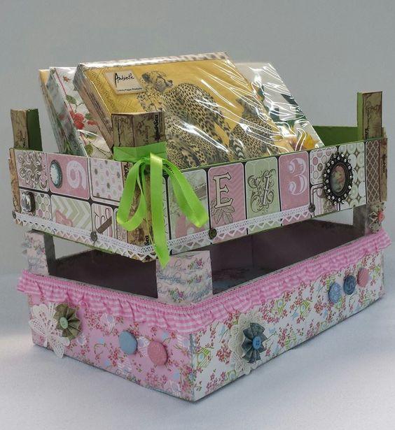 Cajas de madera recicladas con material de scrap y varios - Cajas de madera recicladas ...