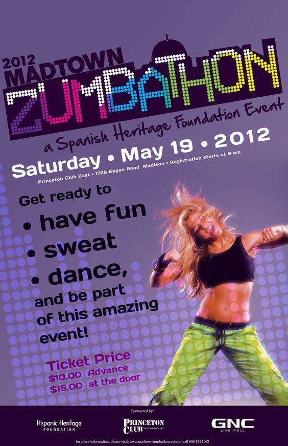 Zumbathon Poster Poster designs, Zumba ...